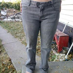 Prana 8 Gray Mid Rise Straight Leg Jeans